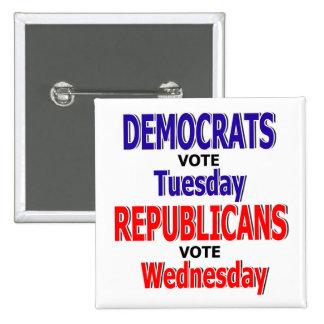 Botão engraçado de Democrata Pins