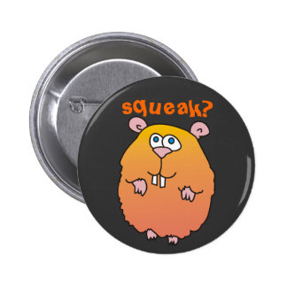Botão engraçado de Pinback do rangido do hamster Botons
