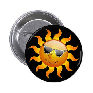 Botão engraçado de Sun do verão Botons