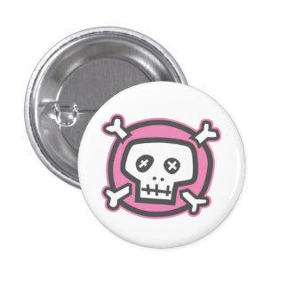 Botão engraçado do crânio (estilo cinzento) botons
