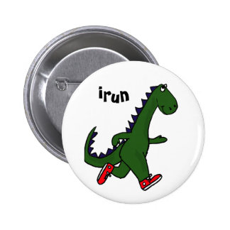 Botão engraçado do dinossauro da corrida do AU Bóton Redondo 5.08cm