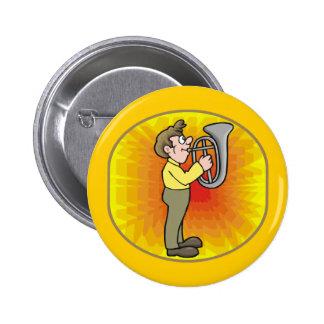 Botão engraçado do jogador do barítono bóton redondo 5.08cm