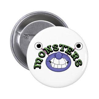 Botão engraçado do Pin da boca dos monstro Bóton Redondo 5.08cm
