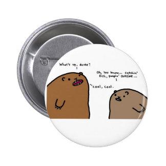 Botão engraçado do urso botons