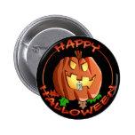 Botão feliz da abóbora do Dia das Bruxas Pins