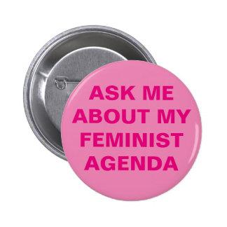 Botão feminista engraçado bóton redondo 5.08cm