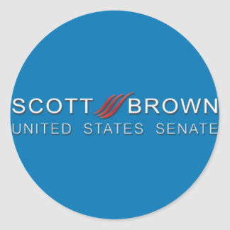 botão marrom da campanha de scott adesivos