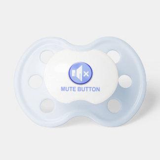 Botão mudo azul engraçado Pacis Chupeta De Bebê