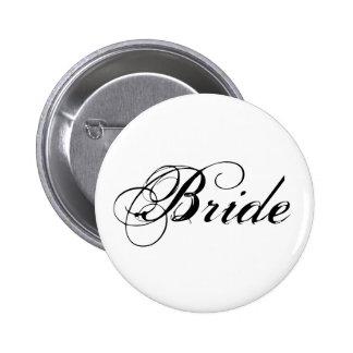 Botão nupcial do partido da noiva elegante bóton redondo 5.08cm