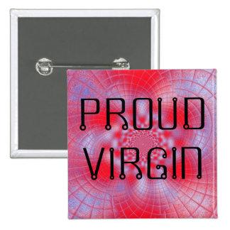Botão orgulhoso do Virgin Bóton Quadrado 5.08cm