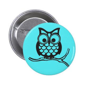 Botão padrão da coruja bonito para miúdos bóton redondo 5.08cm