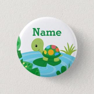 Botão pequeno feito sob encomenda da tartaruga bóton redondo 2.54cm