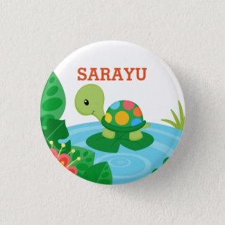 Botão pequeno personalizado da tartaruga bóton redondo 2.54cm