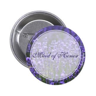 Botão personalizado do casamento da lavanda da bóton redondo 5.08cm