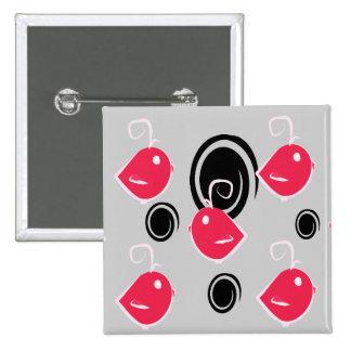 botão preto e cor-de-rosa do teste padrão do pássa pins