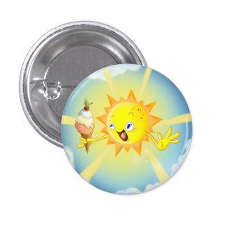 Botão redondo bonito de Sun Kawaii do verão Bóton Redondo 2.54cm
