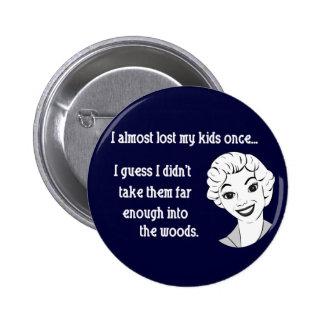 Botão retro engraçado da mamã boton