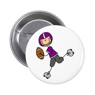 Botão roxo do jogador de futebol bóton redondo 5.08cm
