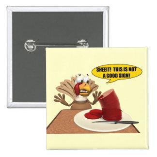 Botão - sinais de Thankgiving Bóton Quadrado 5.08cm