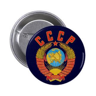 Botão soviético da brasão CCCP Botons