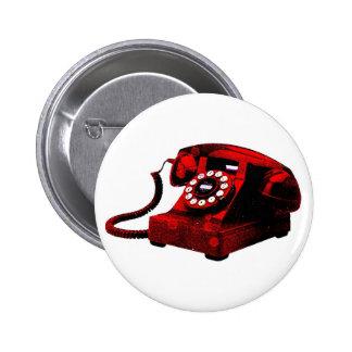 Botão velho da caixa de telefone da mesa do pop bóton redondo 5.08cm
