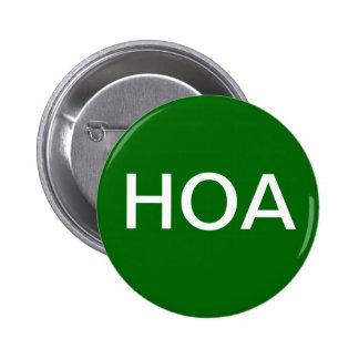 Botão verde da associação dos proprietários de cas boton