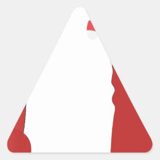 Botas do Natal Adesivo Triangular