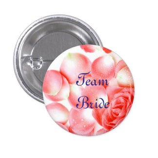 Botões cor-de-rosa da noiva da equipe do casamento bóton redondo 2.54cm