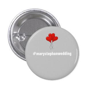 Botões de casamento customizáveis completos - bóton redondo 2.54cm