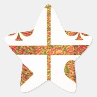 Botões DO RETORNO das etiquetas do póquer das Adesito Estrela