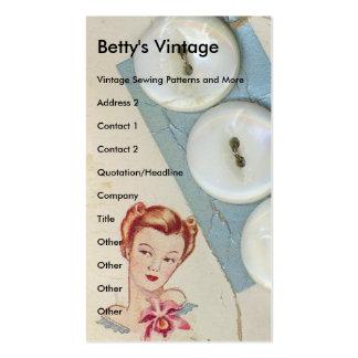 Botões do vintage, o vintage de Betty Cartão De Visita