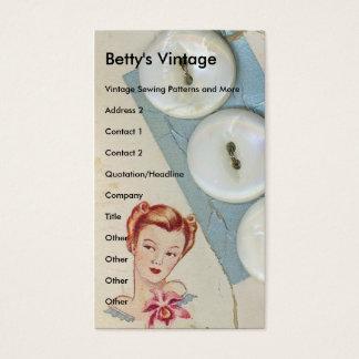 Botões do vintage, o vintage de Betty Cartão De Visitas