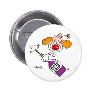 Botões engraçados do favor de partido da bóton redondo 5.08cm
