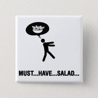 Bóton Quadrado 5.08cm Amante da salada