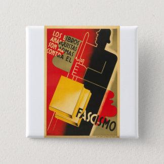 Bóton Quadrado 5.08cm Anarquista da guerra civil espanhola/poster raro