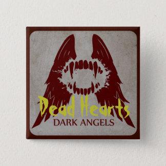 Bóton Quadrado 5.08cm Anjos escuros - novelas inoperantes dos corações