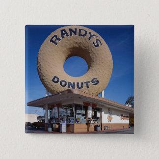 Bóton Quadrado 5.08cm Arquitetura de Califórnia das rosquinhas de Randy
