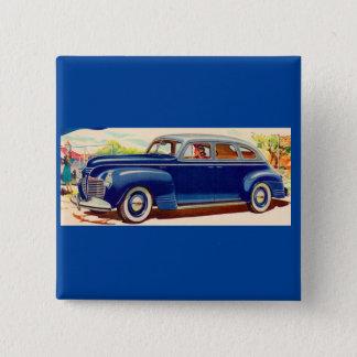 Bóton Quadrado 5.08cm azul Plymouth 1941