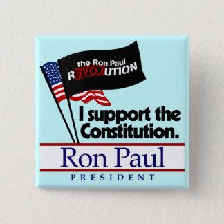 Bóton Quadrado 5.08cm Botão da constituição de Ron Paul