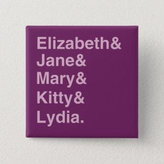 Bóton Quadrado 5.08cm Botão da lista da tipografia do orgulho & do