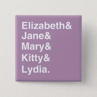 Bóton Quadrado 5.08cm Botão da lista de nomes das meninas do orgulho &