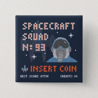 Bóton Quadrado 5.08cm Botão da moeda da inserção do pixel