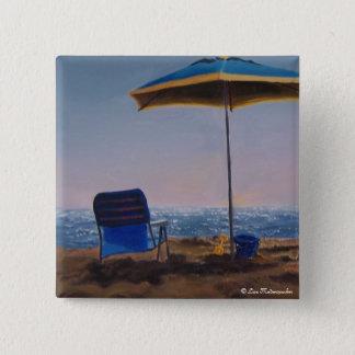 Bóton Quadrado 5.08cm Botão da praia da manhã
