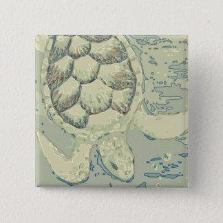 Bóton Quadrado 5.08cm Botão da tartaruga do fantasma