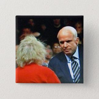 Bóton Quadrado 5.08cm Botão de John McCain