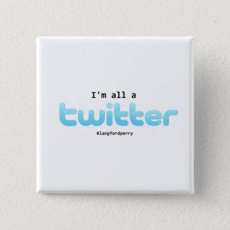 Bóton Quadrado 5.08cm Botão de Matthew Perry
