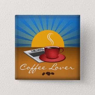 Bóton Quadrado 5.08cm Botão do costume do quadrado do copo de café do