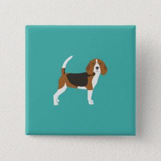 Bóton Quadrado 5.08cm Botão do lebreiro - botão do cão