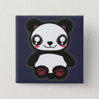 Bóton Quadrado 5.08cm Botão engraçado da panda de Kawaii