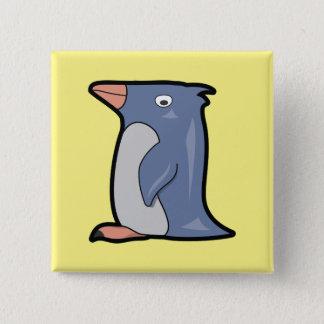 Bóton Quadrado 5.08cm Botão engraçado do pinguim